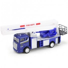 image of XIONGFENGDA KIDS ALLOY 1:60 SCALE SIMULATION FIRE TRUCK MODEL TOY CHRISTMAS GIFT (COLORMIX) -