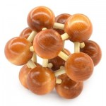 CLASSIC SPACE BALL PUZZLE EDUCATIONAL WOODEN INTERLOCK TOY BIRTHDAY GIFT (BROWN) -