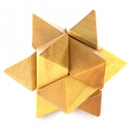 image of CLASSIC PUZZLE EDUCATIONAL WOODEN INTERLOCK TOY BIRTHDAY PRESENT (YELLOW) -