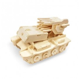 image of ROBOTIME ROCKET LAUNCHER 3D WOODEN PUZZLE ENVIRONMENTAL ASSEMBLE TOY EDUCATIONAL GAME (WOOD) -