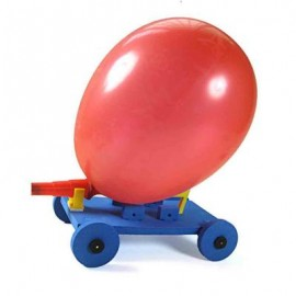 image of BALLOON RACE CAR AIR POWER ASSEMBLE MODEL TOY FOR STUDENT CHILD (COLORMIX) One Size