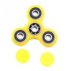 image of HAND SPINNER EDC FINGER TOY FOR ADHD AUTISM LEARNING (YELLOW) 7.50 x 7.50 x 1.00 cm