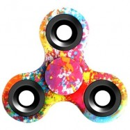 image of STRESS RELIEF TOY TRIANGLE PATTERNED FIDGET SPINNER (RED) -