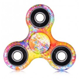 image of WATERCOLOUR TRILATERAL PATTERN ABS HAND SPINNER FINGER TOY (COLORMIX) -