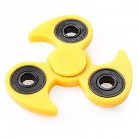 image of FLY-WHEEL GYRO FIDGET SPINNER STRESS RELIEVER PRESSURE REDUCING TOY FOR OFFICE WORKER (YELLOW) -
