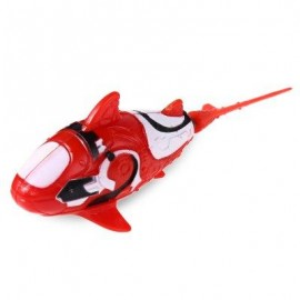 image of HOT SALE BATTERY POWERED ELECTRICAL SHARK TOY WATER SWIMMER FISH TOY (RED WITH WHITE) -
