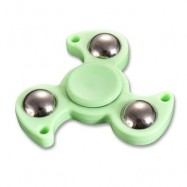 image of PLASTIC FINGER GYRO STRESS RELIEF TOY STEEL BALL FIDGET SPINNER (GREEN) -