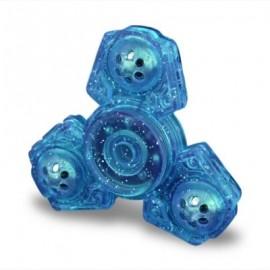 image of FINGER GYRO PLASTIC FIDGET TOY EDC HAND SPINNER (BLUE) -