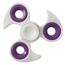 image of FIDDLE TOY EDC TRI-BAR FINGER GYRO HAND SPINNER (WHITE) -