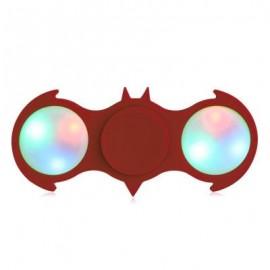 image of FIDDLE TOY COLORFUL FLASHING LED LIGHTS BAT FIDGET SPINNER (RED) -