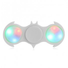 image of FIDDLE TOY COLORFUL FLASHING LED LIGHTS BAT FIDGET SPINNER (WHITE) -