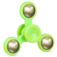 image of THREE-LEAF ABS FIDGET SPINNER WITH STEEL BALL COUNTERWEIGHT ADHD STRESS RELIEF PRODUCT FIDGETING TOY FOR ADULTS (GREEN) -