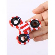 image of STRESS RELIEF FIDDLE TOY CAMOUFLAGE FINGER SPINNER (RED) -