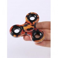 image of STRESS RELIEF FIDDLE TOY CAMOUFLAGE FINGER SPINNER (LEOPARD) -