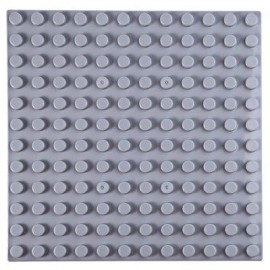 image of 192 X 192MM SMALL BUILDING BLOCK BASE PLATE KIDS EDUCATIONAL TOY (GRAY) -