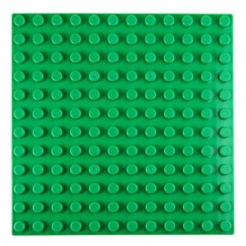 image of 192 X 192MM SMALL BUILDING BLOCK BASE PLATE KIDS EDUCATIONAL TOY (GREEN) -