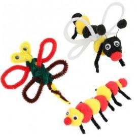 image of 100PCS KIDS PLUSH DIY ART HANDMADE EDUCATIONAL TOY (COLORMIX) -