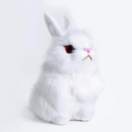 image of LOVELY MINI SIMULATION RABBIT DOLL PLUSH TOY BIRTHDAY CHRISTMAS GIFT FOR BABY (WHITE) -