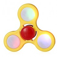 image of LED LIGHT ADHD FIDGET SPINNER STRESS RELIEVER RELAXATION GIFT (YELLOW) -