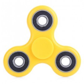 image of ABS PLASTIC ADHD FIDGET SPINNER STRESS RELIEVER TOY RELAXATION GIFT (YELLOW) -