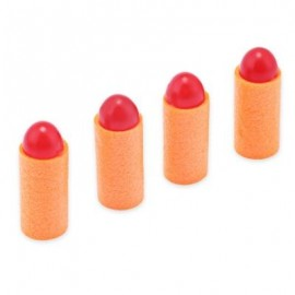 image of 50PCS SAFETY SHOOTING EVA SHORT BULLET ROUND HEAD SOFT DART GUN ACCESSORY (RED) -