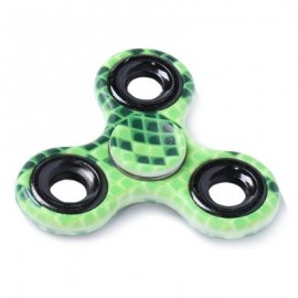 image of STRESS RELIEF TOY PRINTED FINGER GYRO PLASTIC FIDGET SPINNER (GREEN) -