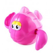 image of BABY SQUIRT WATER FISH OCEAN ANIMAL SWIMMING BATH TOY (DEEP PINK) -