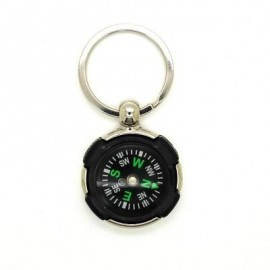 image of CREATIVE TYRE STYLE COMPASS KEY CHAIN (BLACK) 0