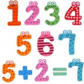 image of WOODEN ALPHABET FRIDGE MAGNET CHILD EDUCATIONAL TOY (COLOUR) 0