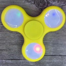 image of ANTI-STRESS TOY COLOR CHANGING LED FIDGET FINGER SPINNER (YELLOW) -