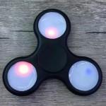 ANTI-STRESS TOY COLOR CHANGING LED FIDGET FINGER SPINNER (BLACK) -