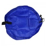 PORTABLE BABY PLAY MAT TOY FAST CLEANUP STORAGE BAG OUTDOOR FLOOR BLANKET 45CM (BLUE) -