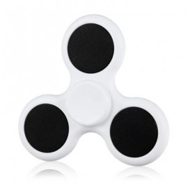 image of TRI-BLADE ABS EDC FIDGET SPINNER FOCUS TOY ADHD ANXIETY STRESS RELIEF (WHITE) -