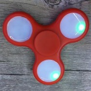 image of ANTI-STRESS TOY COLOR CHANGING LED FIDGET FINGER SPINNER (RED) -
