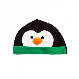 image of LOVELY CARTOON CHRISTMAS HAT GIFT DECORATION ORNAMENT SUPPLY FOR HOLIDAY PARTY (COLORMIX) PENGUIN