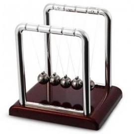 image of NEWTON CRADLE STEEL BALANCE BALL PHYSICS SCIENCE PENDULUM DESK FUN TOY GIFT (COLORMIX) -
