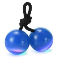 image of KNUCKLES FINGER YO-YO CHUCKS LED STRESS RELIEVER TOY (BLUE) -