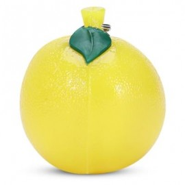 image of SQUISHY TPR SIMULATE ORANGE SQUEEZE TOY PENDANT DECORATION (YELLOW) -