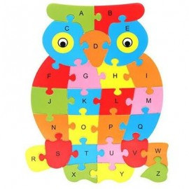 image of OWL SHAPED PUZZLE (COLORMIX) 0
