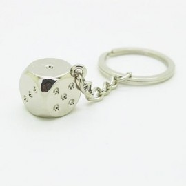 image of CREATIVE DICE PENDANT KEY CHAIN (SILVER) 0