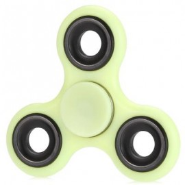 image of LUMINOUS FIDGET SPINNER WITH IRON BAR ABS PLASTIC STRESS RELIEVER TOY (YELLOW) -