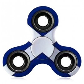 image of ANTI-STRESS TOY EDC PATTERNED FIDGET SPINNER (BLUE AND WHITE) -