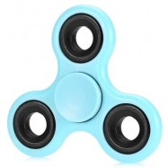 image of LUMINOUS FIDGET SPINNER WITH IRON BAR ABS PLASTIC STRESS RELIEVER TOY (BLUE) -
