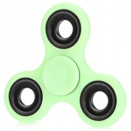 image of LUMINOUS FIDGET SPINNER WITH IRON BAR ABS PLASTIC STRESS RELIEVER TOY (GREEN) -