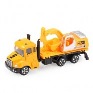 image of THE NORTH E HOME KIDS ALLOY 1:64 SCALE EXCAVATOR TRUCK (DEEP YELLOW) -