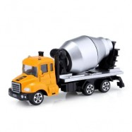 image of KIDS ALLOY 1:64 SCALE CONCRETE MIXER TRUCK EMULATION MODEL TOY GIFT (EARTHY) -
