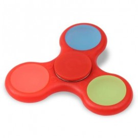 image of GLOW IN THE DARK TRI FIDGET TOY HAND SPINNER (RED) 8*8*1.2CM