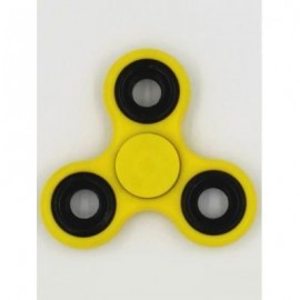 image of FIDDLE TOYS ROTATING TRIANGLE FIDGET SPINNER (YELLOW) -