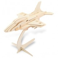 image of SEALAND G - P040 WOODEN 3D AIRCRAFT FIGHTER PLANE MODEL SIMULATION CONSTRUCTION KIT TOY (APRICOT) -