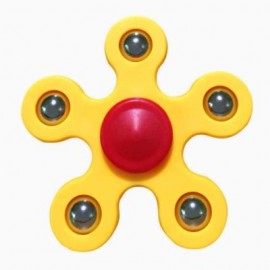 image of STRESS RELIEF TOY BALL BEARING FIDGET SPINNER (YELLOW) -